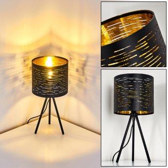 Bathinda Lámpara de mesa Negro, 1 luz