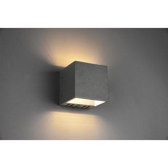 Trio Figo Aplique LED Negro, 1 luz, Mando a distancia, Cambia de color