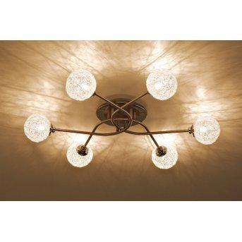 Paul Neuhaus WOMBLE Lámpara de techo Acero inoxidable, 6 luces