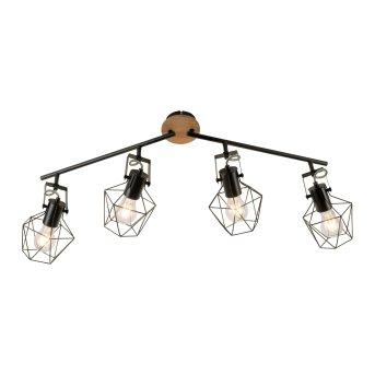 Leuchten-Direkt JARO Lámpara de Techo Madera clara, 4 luces