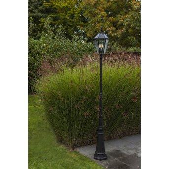 Lutec London Poste de Jardín LED Negro, 3 luces