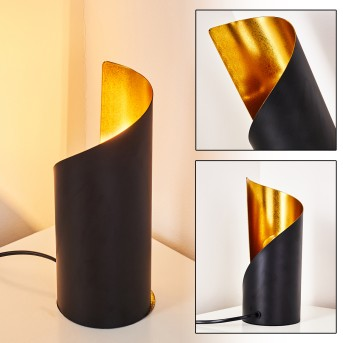 Yahuma Lámpara de Mesa Negro-dorado, 1 luz