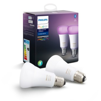 Philips Hue LED Set de 2 Ambiance White & Color E27 9,5 Watt 6500 Kelvin 806 Lumen