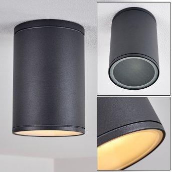 Agua Lámpara de Techo Negro, 1 luz