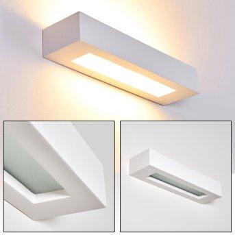 Paglia Aplique Blanca, 2 luces