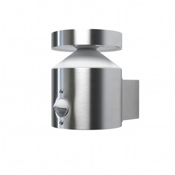LEDVANCE ENDURA Aplique para exterior Acero inoxidable, 1 luz, Sensor de movimiento