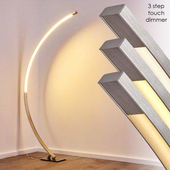 Ruswil Lámpara de Pie LED Níquel-mate, 1 luz