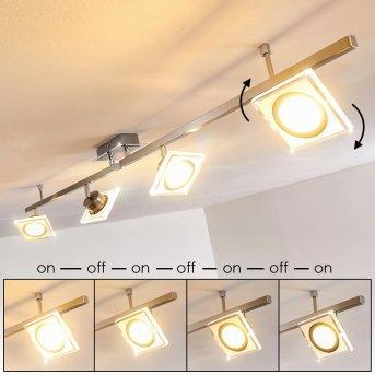 Kolari Lámpara de Techo LED Níquel-mate, Cromo, 4 luces