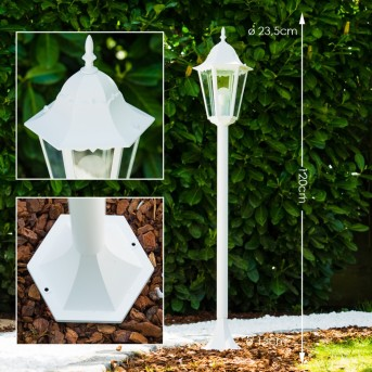 Bristol Lámpara de pie para exterior Blanca, 1 luz