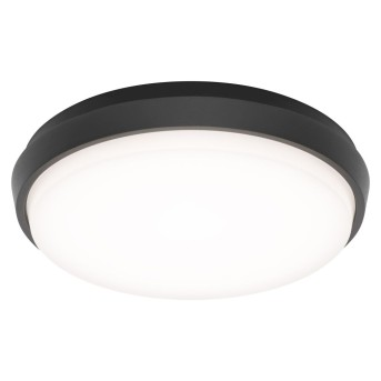 Lámpara de techo para exterior LCD TYP 5066 LED Negro, 1 luz