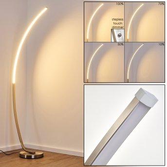 Antares Lámpara de Pie LED Níquel-mate, 1 luz