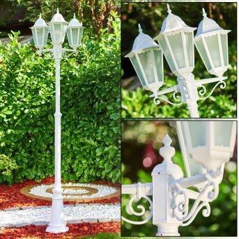 Lutec Hongkong Candelabro Blanca, 3 luces