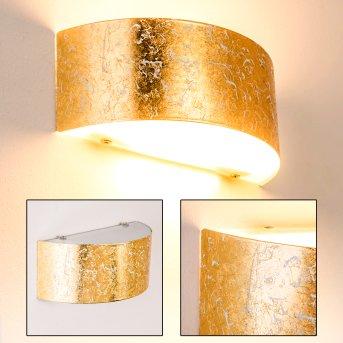 Lesina M Aplique dorado, 2 luces