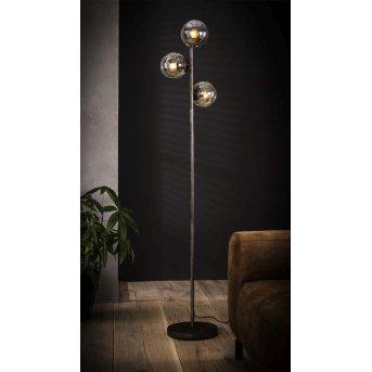 VLUETEN Lámpara de Pie Plata, 3 luces