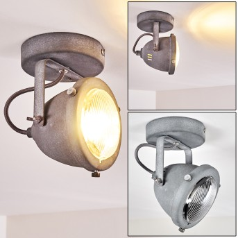 Glostrup Lámpara de Techo LED Gris, 1 luz