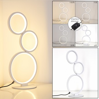 Rodekro Lámpara de Mesa LED Blanca, 1 luz