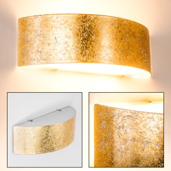 Lesina L Aplique dorado, 2 luces