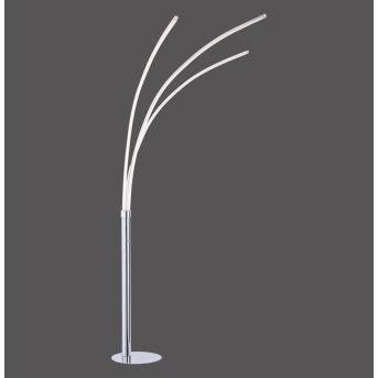 Leuchten-Direkt MAJA Lámpara de Pie LED Cromo, 3 luces