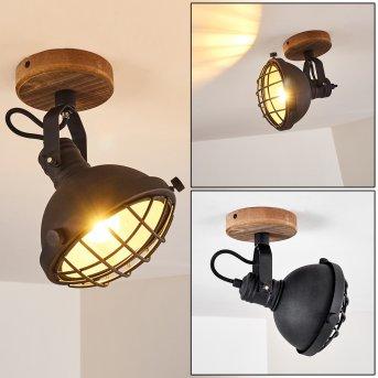 Ormaryd Lámpara de Techo Negro, Marrón, 1 luz