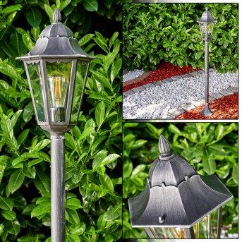 Lignac Lámpara de pie para exterior Negro, Plata, 1 luz
