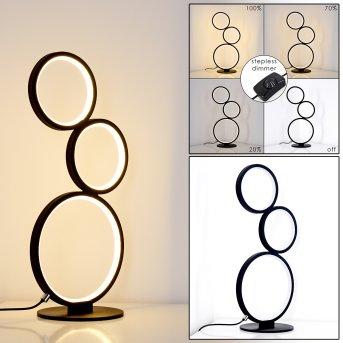 Rodekro Lámpara de Mesa LED Negro, 1 luz
