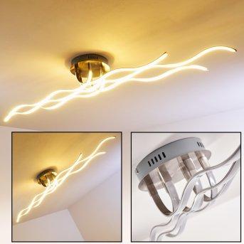 Bovino Lámpara de techo LED Níquel-mate, 1 luz