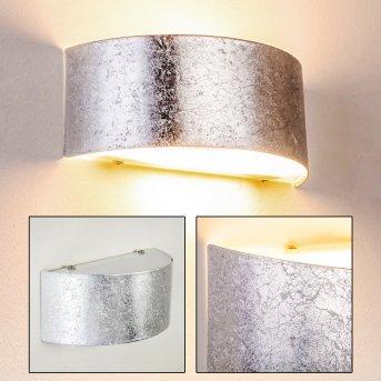 Lesina M Aplique Plata, 2 luces