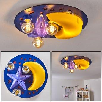 Fribourg Lámpara de Techo Azul, Amarillo, 2 luces