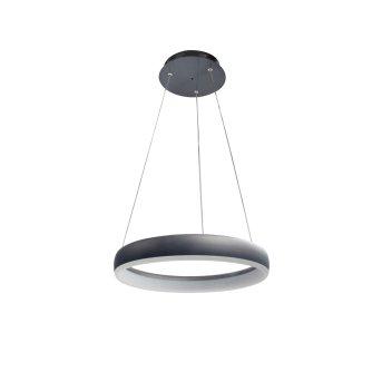 WOFI CLINT Lámpara Colgante LED Negro, 1 luz, Mando a distancia