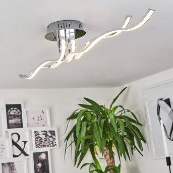 Corato Lámpara de techo LED Cromo, 1 luz