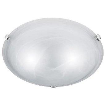 Trio 6105 Lámpara de techo Níquel-mate, Blanca, 2 luces