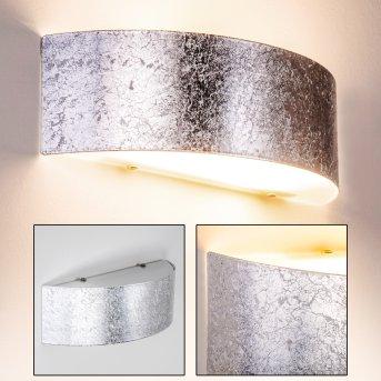 Lesina L Aplique Plata, 2 luces