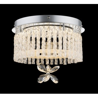 Globo Lámpara de techo LED Cromo, 1 luz