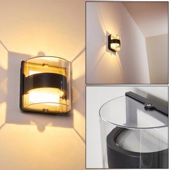 Sauerbek Aplique para exterior LED Negro, 2 luces
