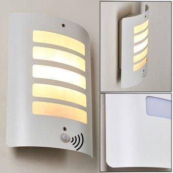 Aplique para exterior Alslev Blanca, 1 luz, Sensor de movimiento