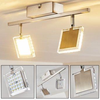 Piney Lámpara de Techo LED Níquel-mate, 2 luces