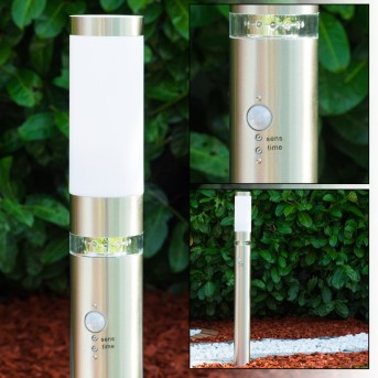 Avize Lámpara de pie para exterior Acero inoxidable, 1 luz, Sensor de movimiento