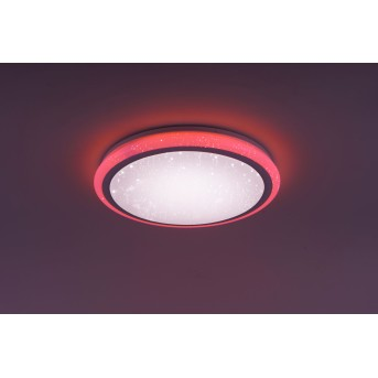 Leuchten Direkt Luisa Lámpara de Techo LED Blanca, 2 luces, Mando a distancia, Cambia de color