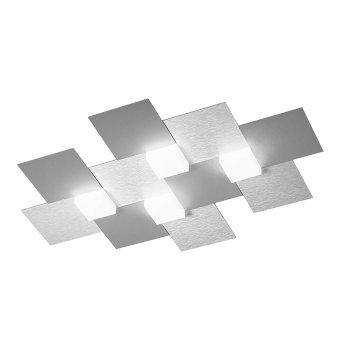 Grossmann CREO Lámpara de techo LED Aluminio, 4 luces