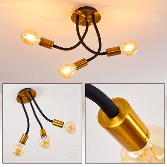 Lámpara de Techo Hovslund Negro, dorado, 3 luces
