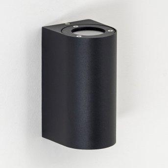 Boda Aplique para exterior Negro, 2 luces