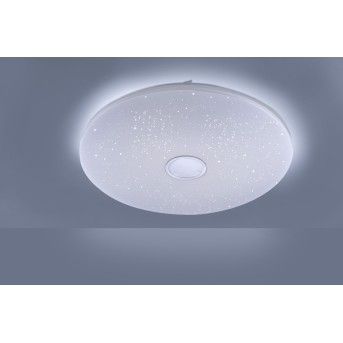 Leuchten Direkt JONAS Lámpara de Techo LED Blanca, 1 luz, Mando a distancia