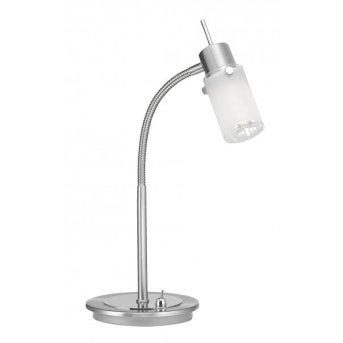 Leuchten-Direkt MAX LED Lámpara de mesa Acero inoxidable, 1 luz