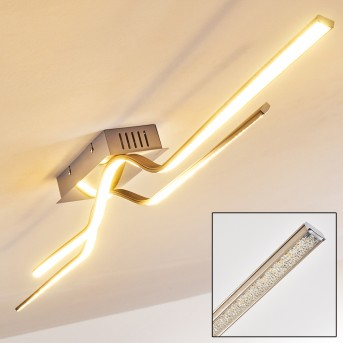 Jamjo Lámpara de Techo LED Níquel-mate, 1 luz