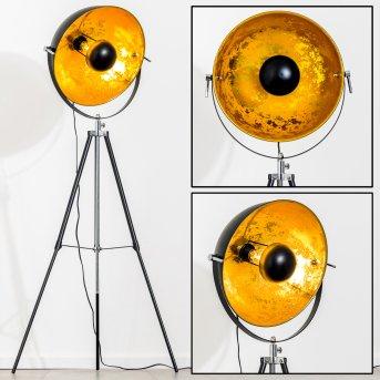 Saturn Lámpara de pie Cromo, Negro, 1 luz