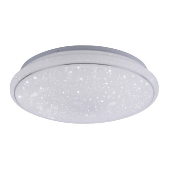 Leuchten Direkt Ls-JUPI Lámpara de Techo LED Blanca, 1 luz, Mando a distancia, Cambia de color