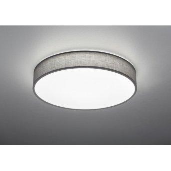 Trio LUGANO Lámpara de Techo LED Gris, 1 luz, Mando a distancia