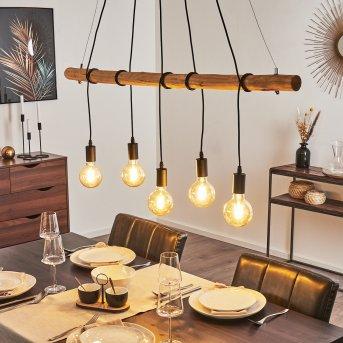 Seegaard Lámpara Colgante Negro, 5 luces