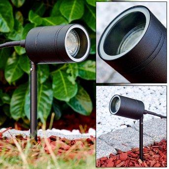 Estacas para jardín LED Froslev Negro, 1 luz