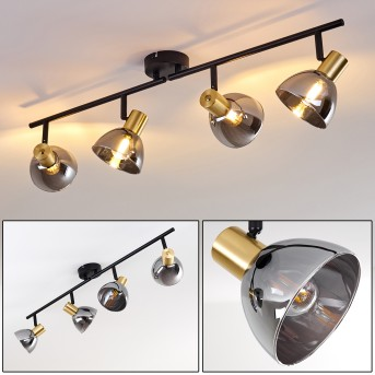 Mariefred Lámpara de Techo Negro, 4 luces